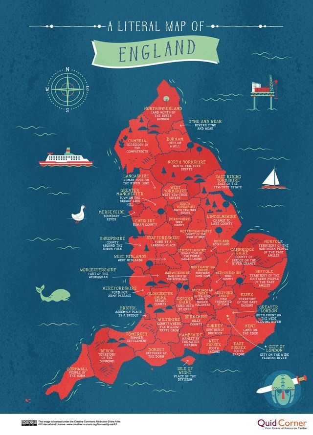 Reveal the hidden meaning of your county's name by finding it on this map   - The World -