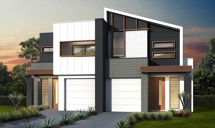 Single duplex double storey house designs masterton for Dual occupancy home designs sydney