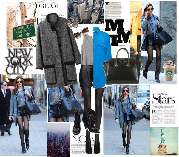 """Get the look: Miranda Kerr ft her Givenchy 'Antigona' bag."" by laryk ❤ liked on Polyvore"