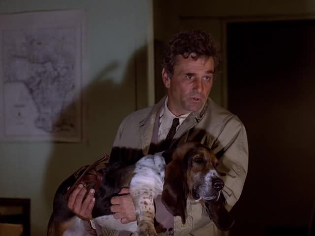 Peter Falk, Columbo and his dog