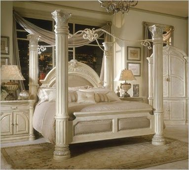 Monte Carlo Snow-BED Canopy Bed | Michael Amini & Monte Carlo Snow-BED Canopy Bed | Michael Amini | new house ...