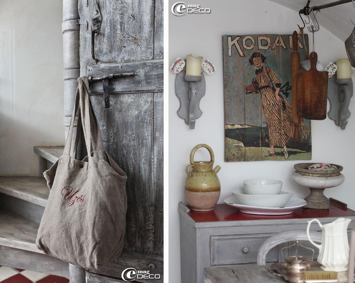 Buffet et ancienne affiche Kodak chinés à Uzès