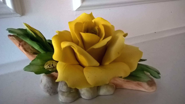 Original Capodimonte Yellow Rose - Made In Italy | Italy, Originals ...