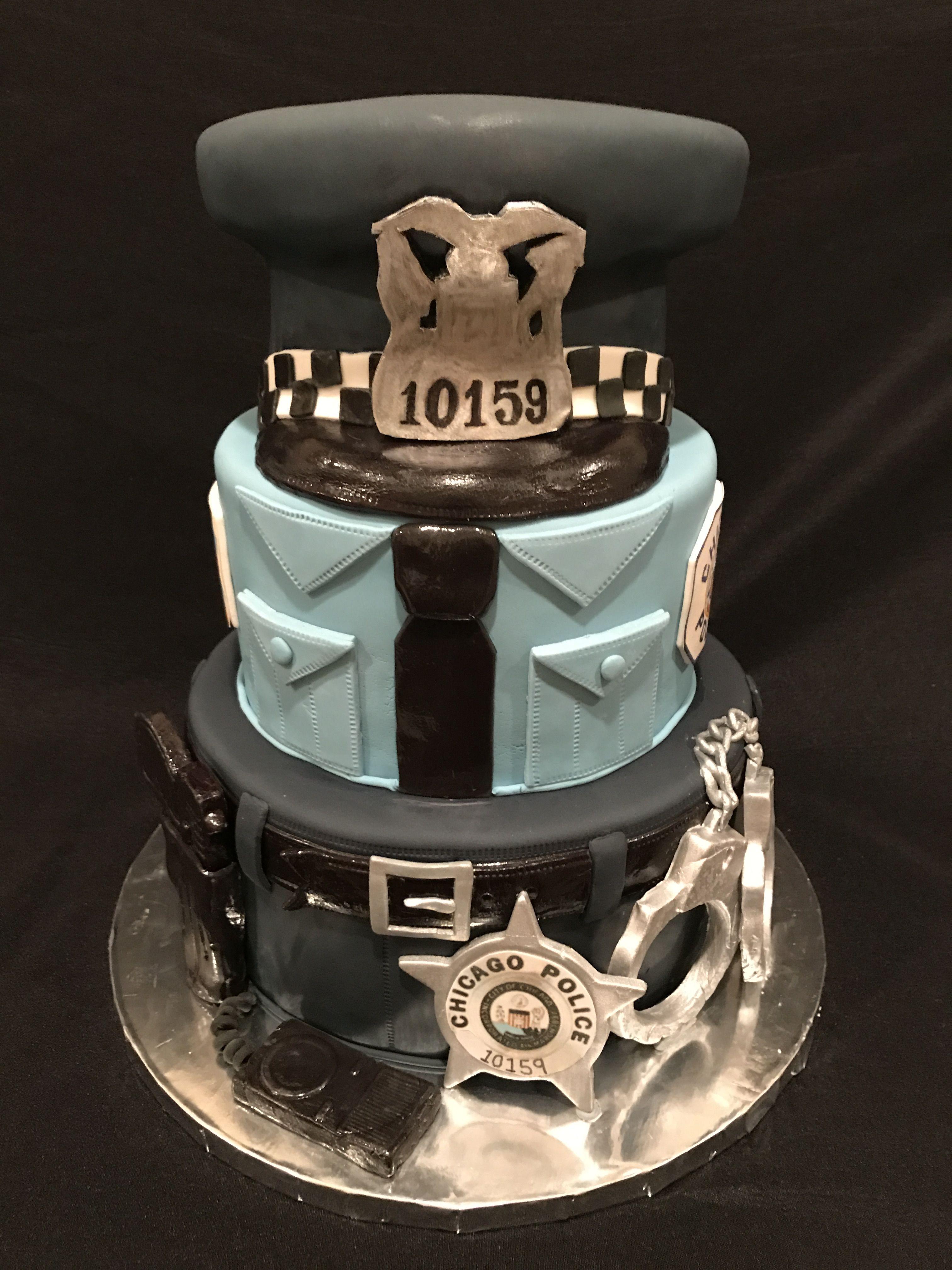 Law Enforcement Cake Police Cake Retirement Cake Uniform