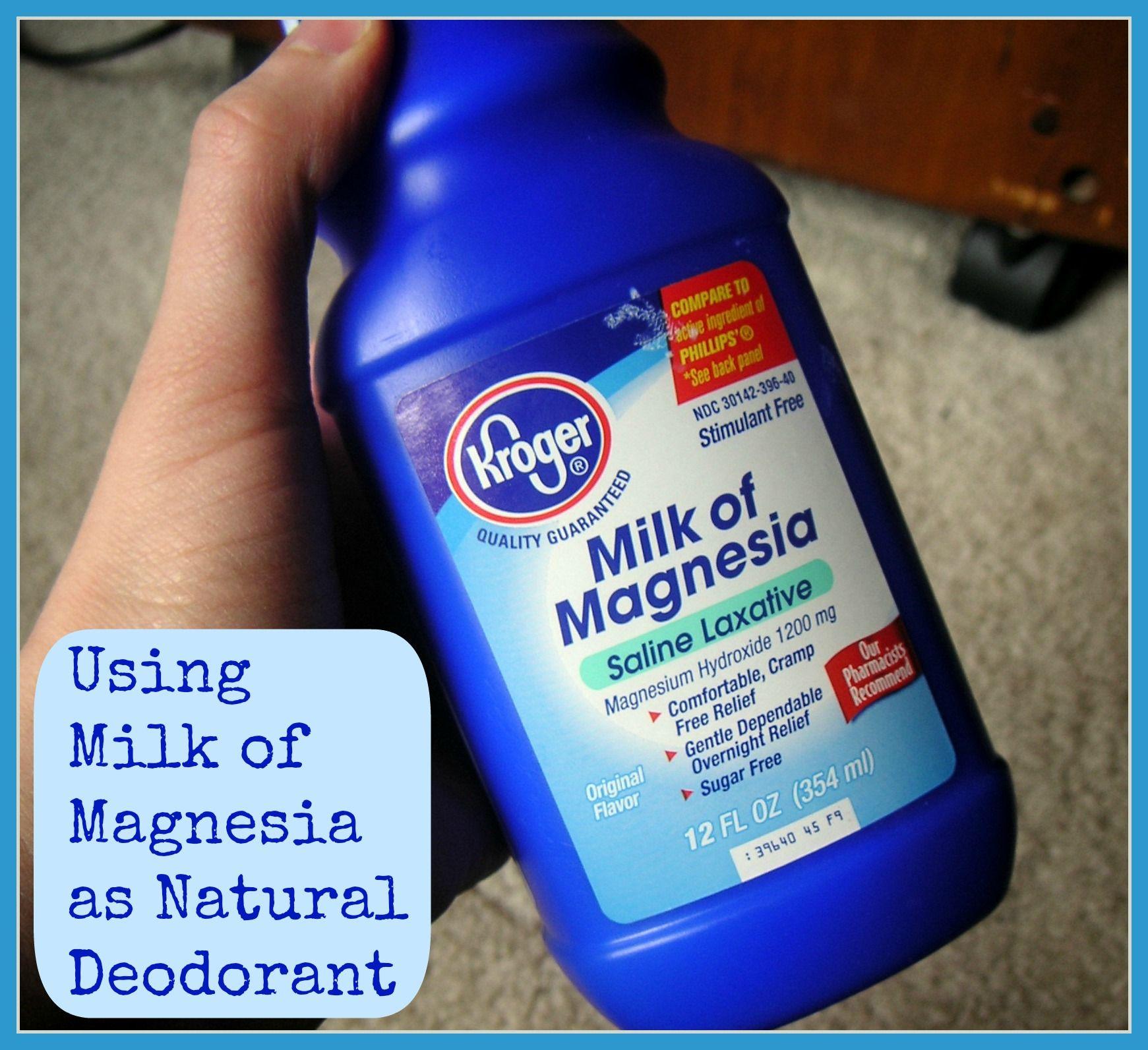 One Ingredient Milk of Magnesia Deodorant Oily skin