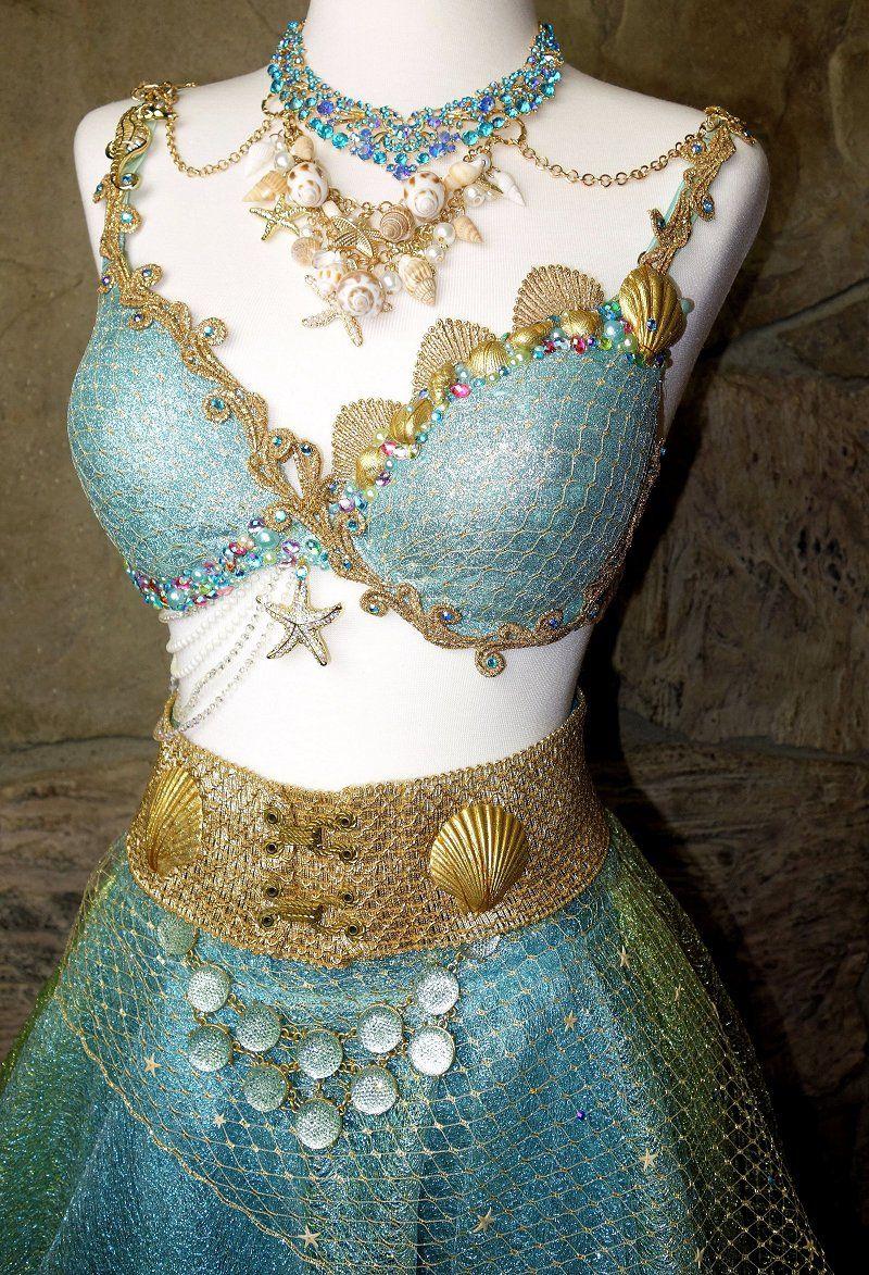 Water Nymph Costume Mermaid Bra - S...