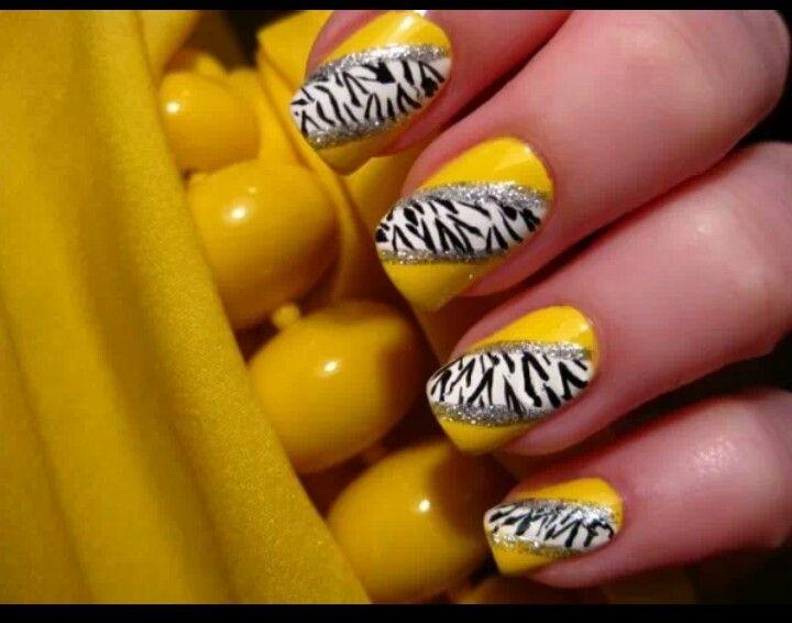 Cute yellow & zebra
