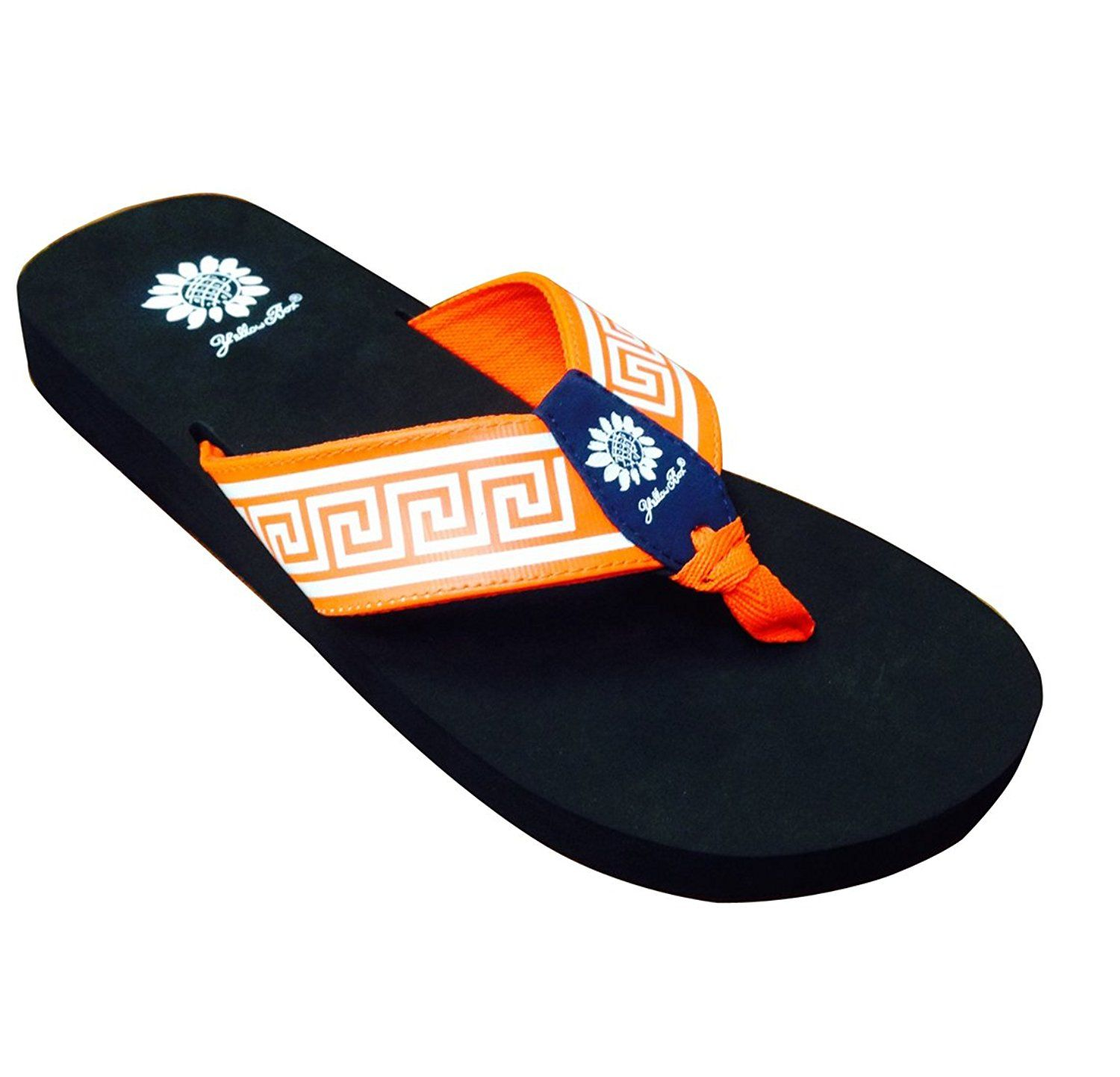 Eldora, Orange with Navy Center Tab Big Greek >>> Want additional info? Click on the image.