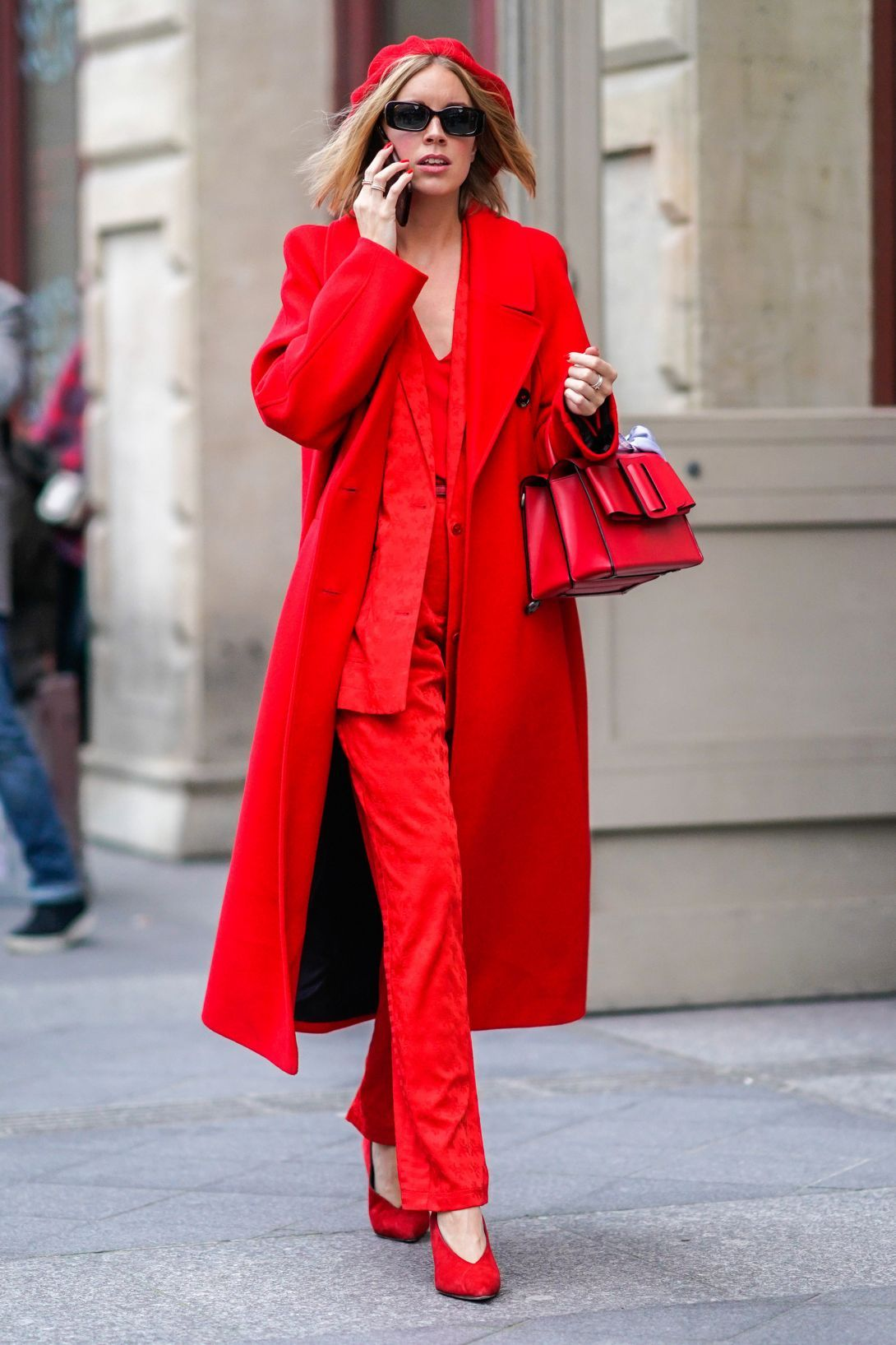 Buy How to pants red wear in spring picture trends