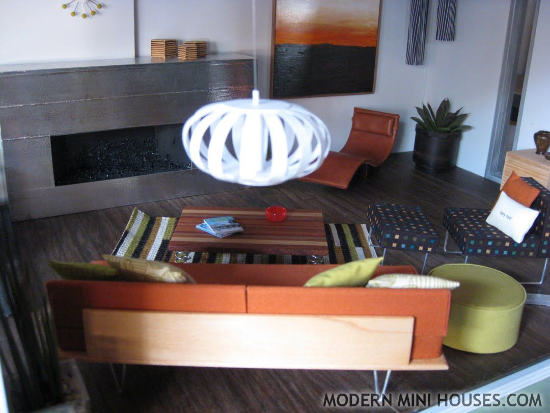 Modern Dollhouse Livingroom All