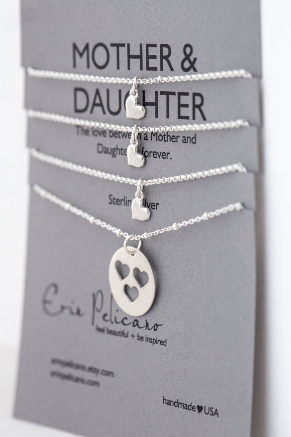 2809080fe60d5 Mother Daughter Necklace Set Gifts for Sisters Heart Necklace Sister ...