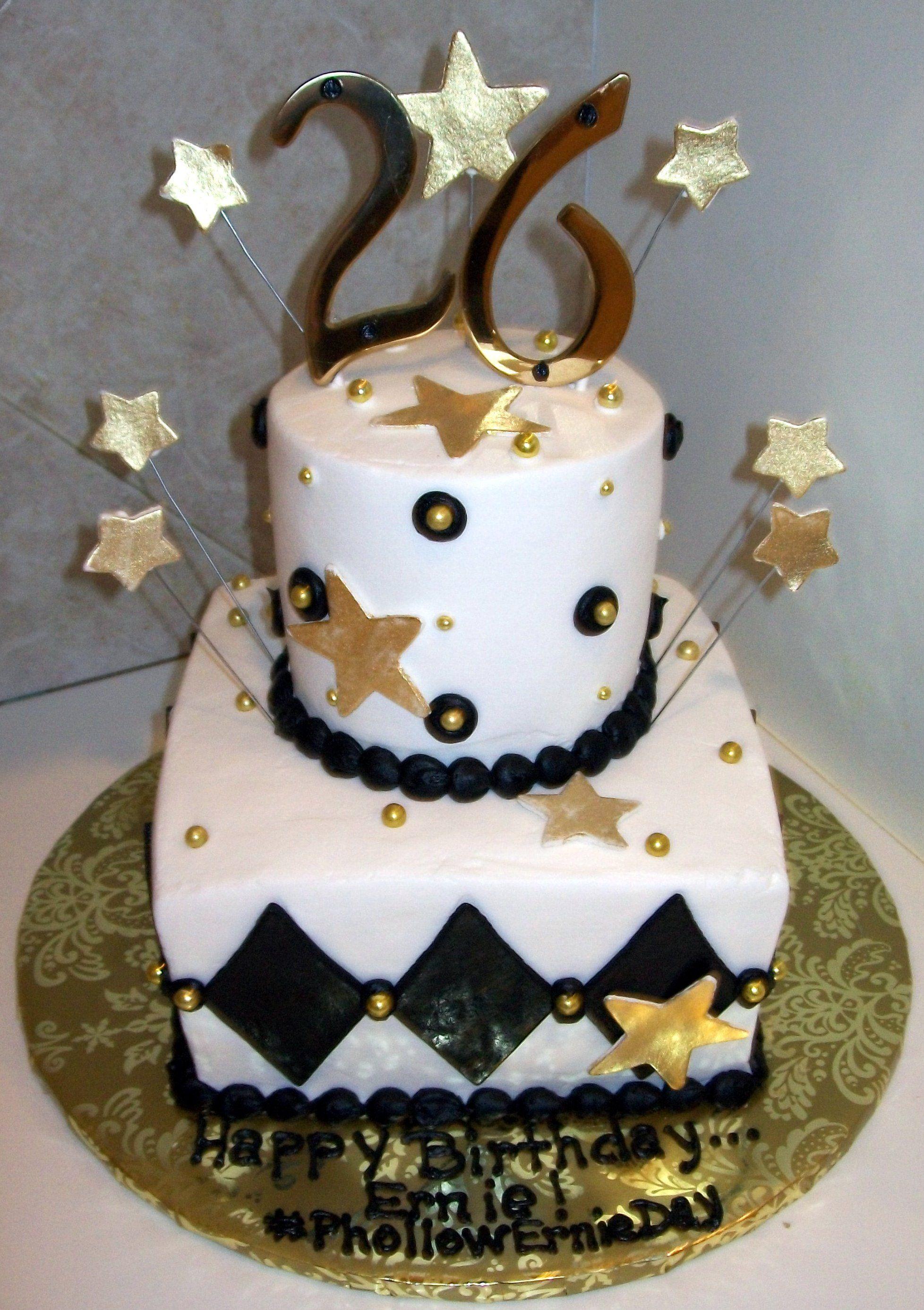26th Birthday Cake Design Birthday Cake Designs Pinterest