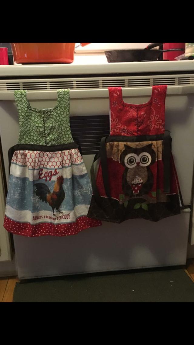 Dressy dish towels. $15
