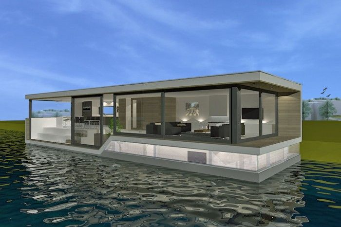 Woonboot Architect | Bobronday.nl | Floating Home | Watervilla | Pinterest  | Architects, Floating House And House