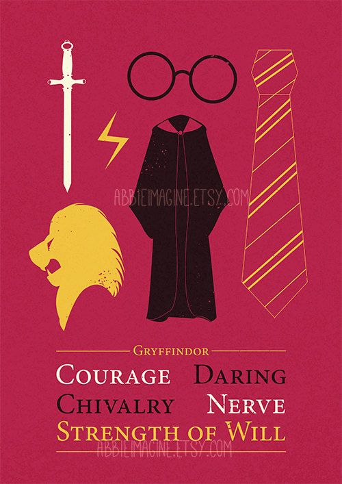 Gryffindor Minimalist Poster Harry Potter Print by ...