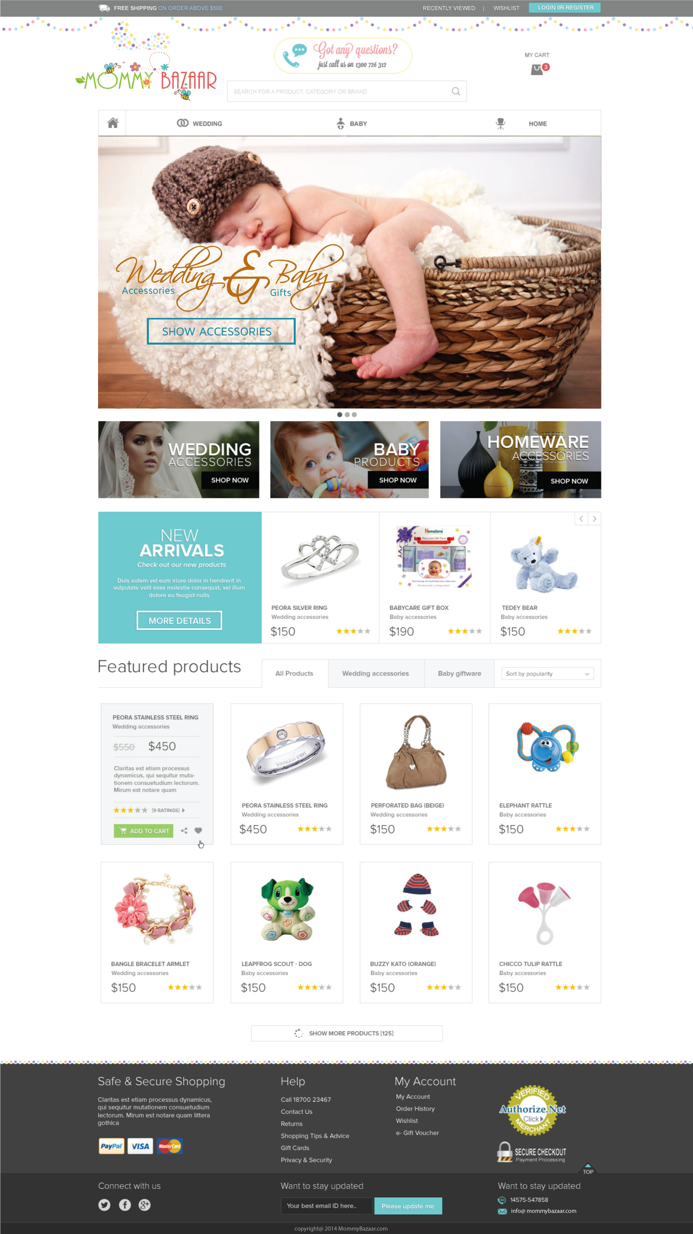 Mother and baby shopping website