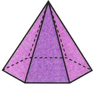 Pirâmide Hexagonal Geometría Pirámide Dibujos