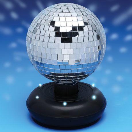 LED MIRROR TABLETOP DISCO BALL