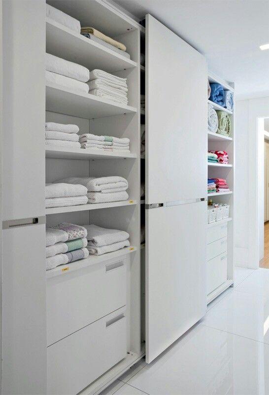 Pratico e organizado pinterest armario for Muebles para toallas