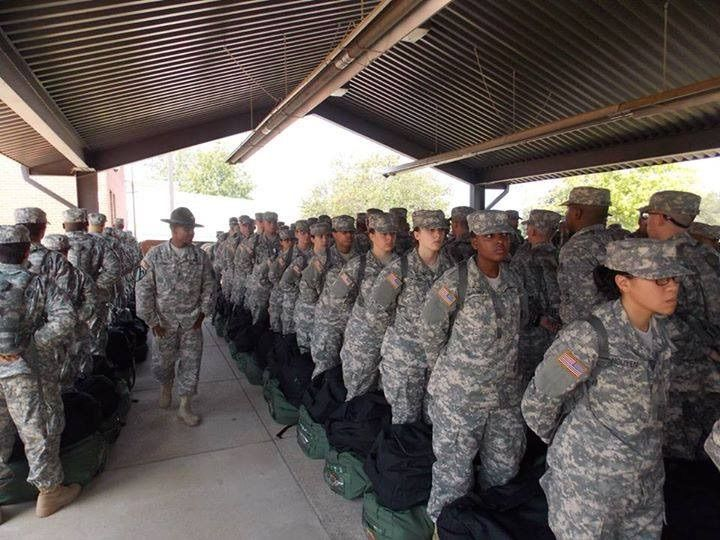 A # USArmy drill sergeant, assigned to 1st Battalion