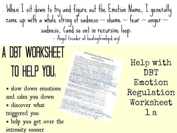 Healingfrombpd Org Sorting Out Emotions Using Dbt Emotion Regulation Worksheet 1a Dbt Therapy Worksheets Dbt Therapy Dbt