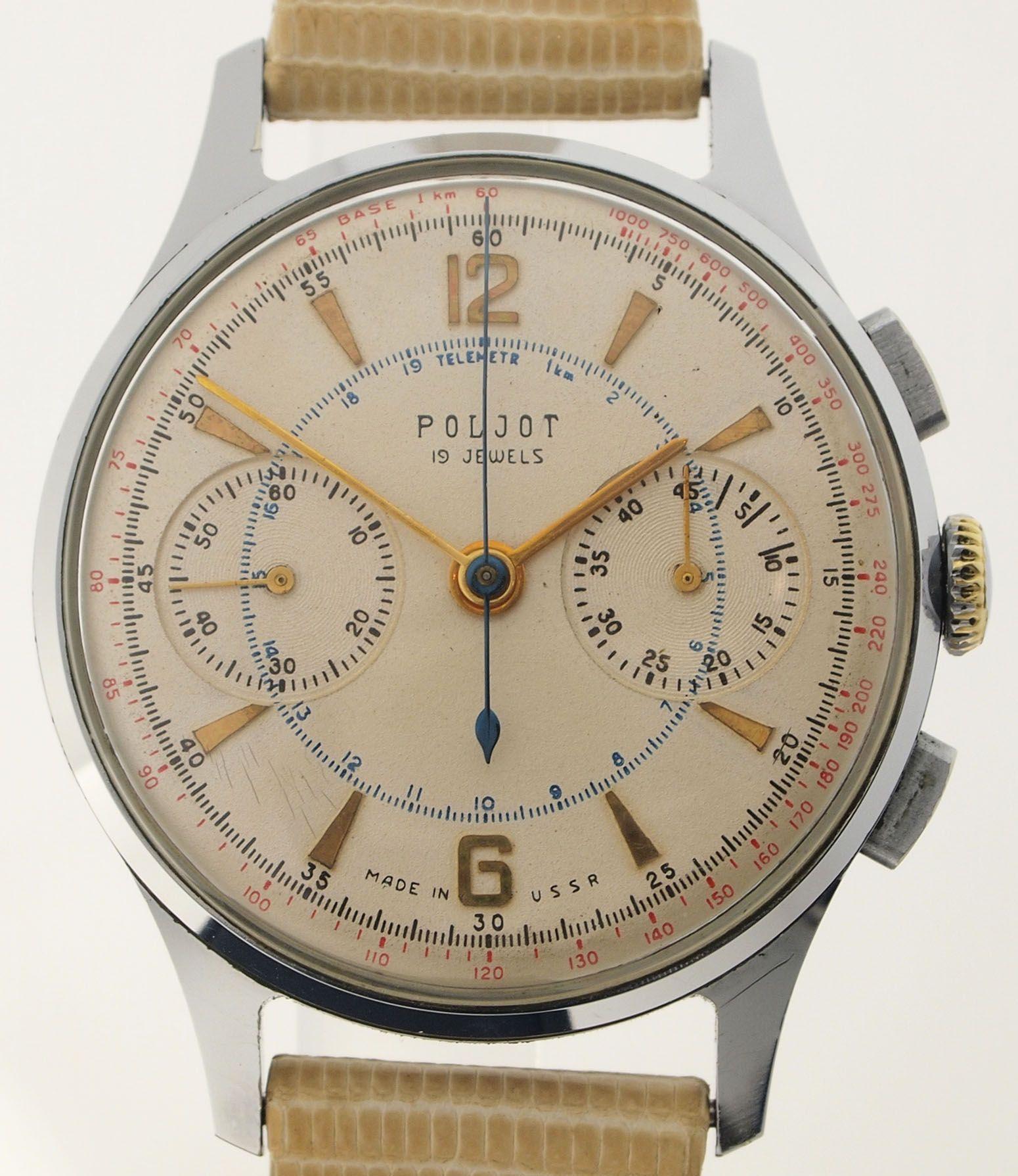 Poljot Chronograph Caliber 3017 Strela Venus 150 Early 1960ies Orologio Vintage Orologi Da Uomo Orologi Alla Moda