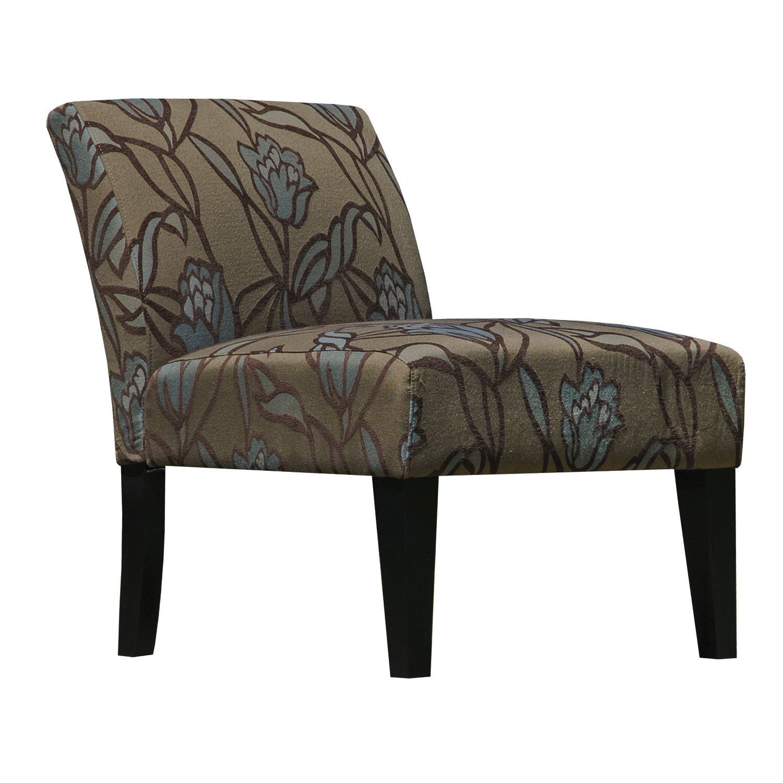 Ava Lotus Flower Armless Slipper Accent Chair