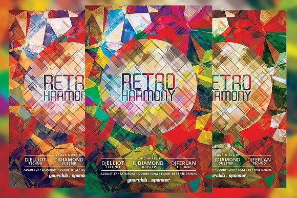Retro Harmony Flyer Business flyers and Flyer template