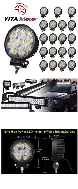 20X 27W LED Work SPOT Square Light Bar 12V 24V Off Road SUV Truck 4WD Boat Lamp