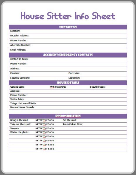 House And Pet Sitting Printables For Free Pet Care Printables Pet Sitting Contract Pet Sitting