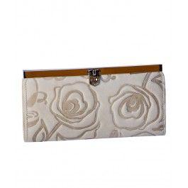 Meriti un brat plin de flori si un portofel plic Romance, din piele naturala