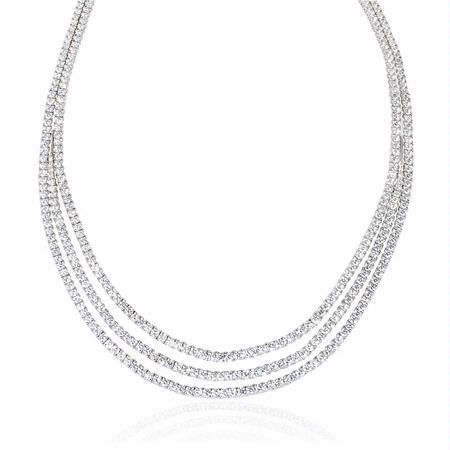 d1f1c0fc9cce 16.35ct Leo Pizzo Diamond 18k White Gold Necklace