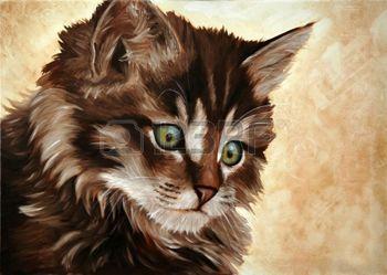 Peinture l huile petit chat tableau peinture a l 39 huile pinterest petit chat huile et - Pinterest peinture a l huile ...