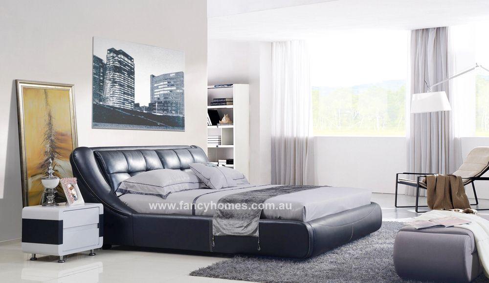 MARTINA- Designer Italian Leather Bed Frame | Bedrooms | Pinterest ...