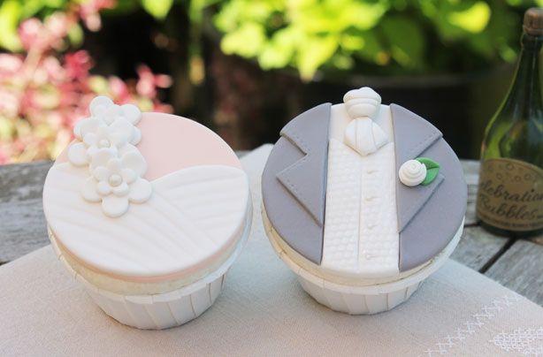 Bride & Groom Cupcake Topper Tutorial