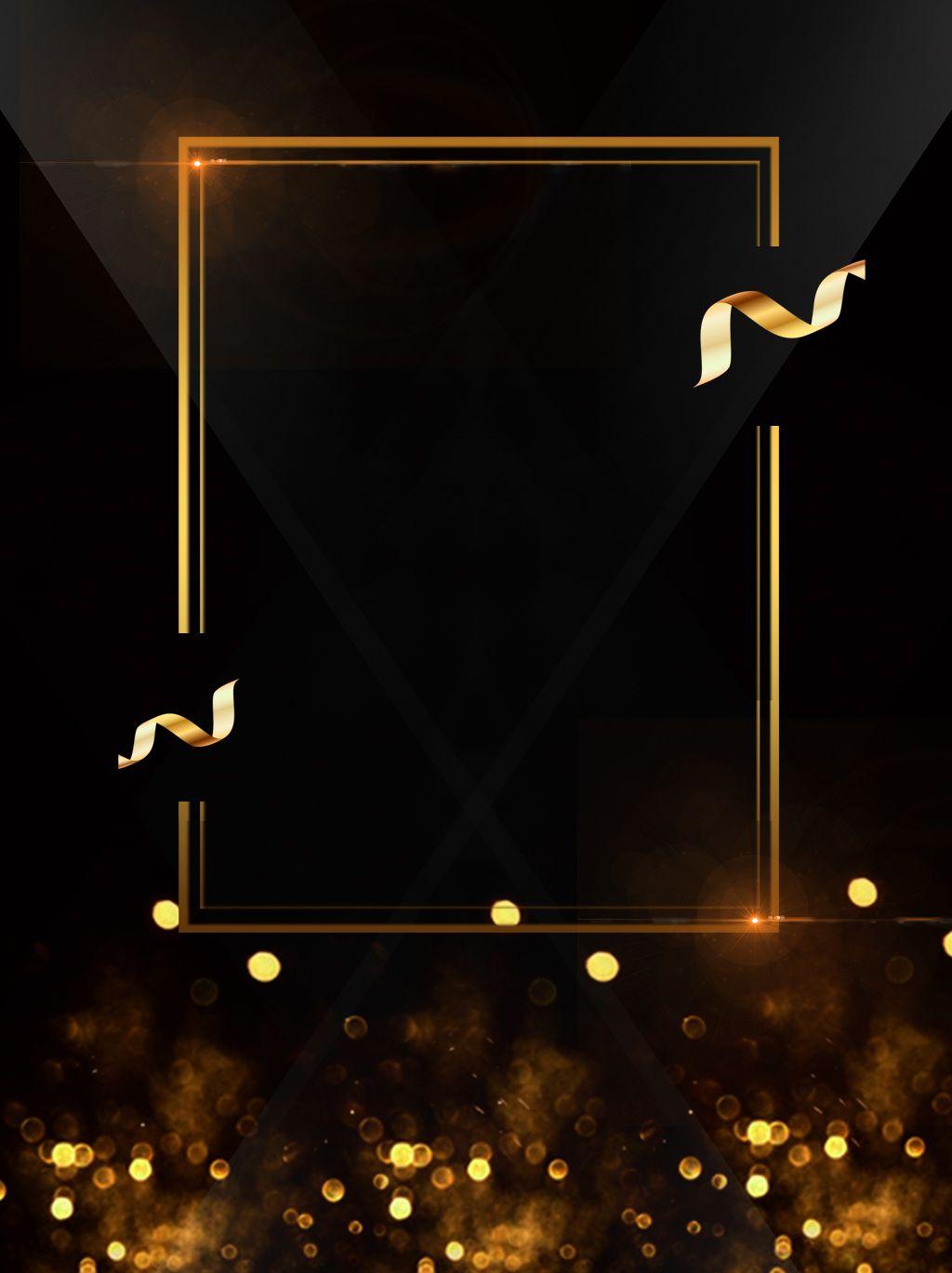 Black Gold Wind Creative Background Design Creative Background Black Background Design Poster Background Design