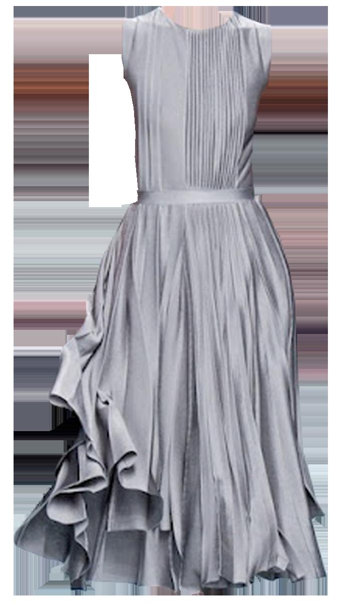 Dior 2012 - grey pleated dress edited by fiery555