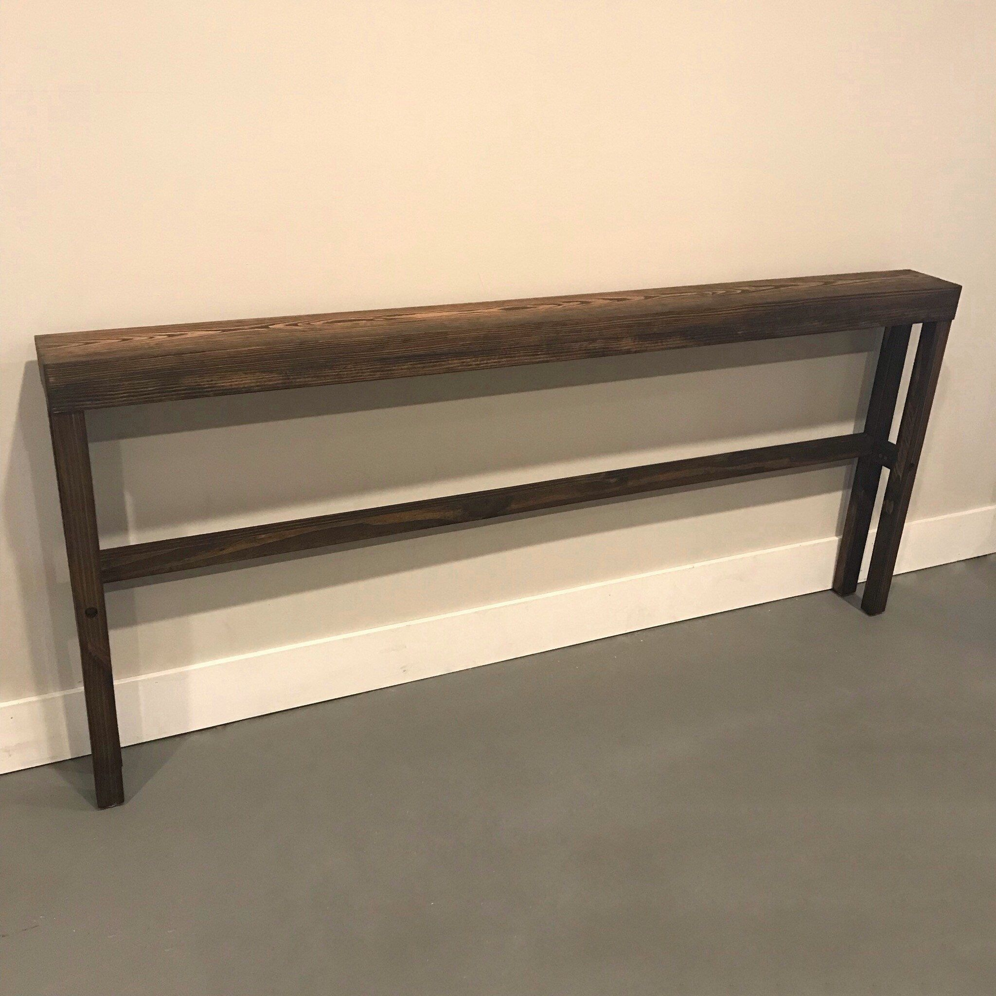 Excited To Share This Item From My Etsy Shop Skinny Long Console Table Narrow Console Table Basement Remodeling Basement Remodel Diy Small Basement Remodel
