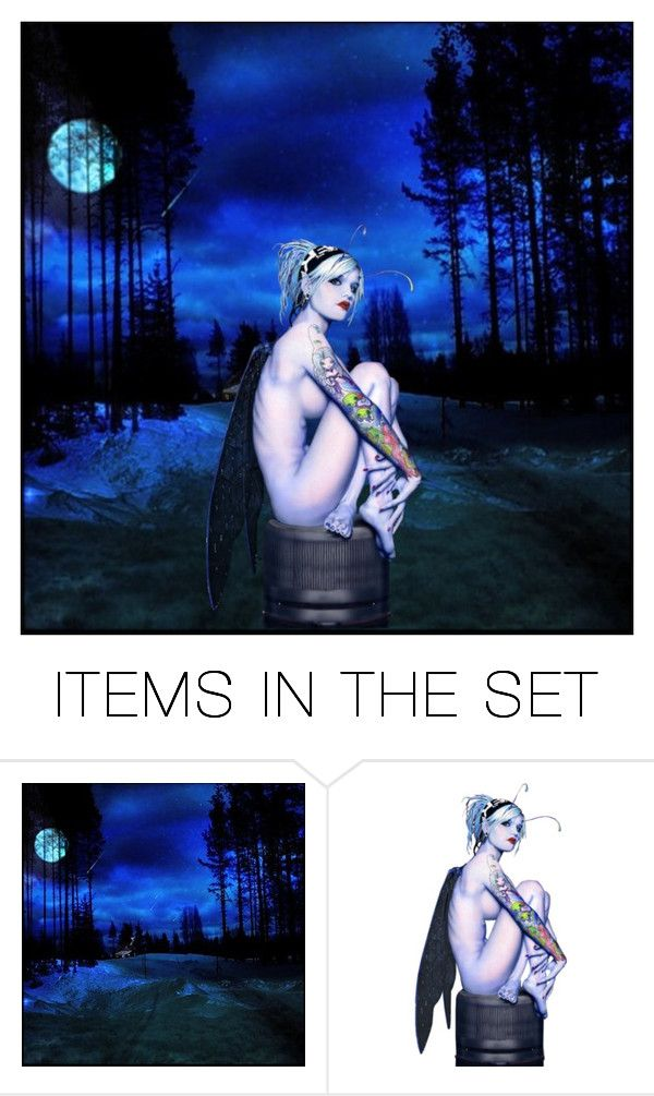 """Blue Moon Fairy"" by buttercreamkisses ❤ liked on Polyvore featuring art"
