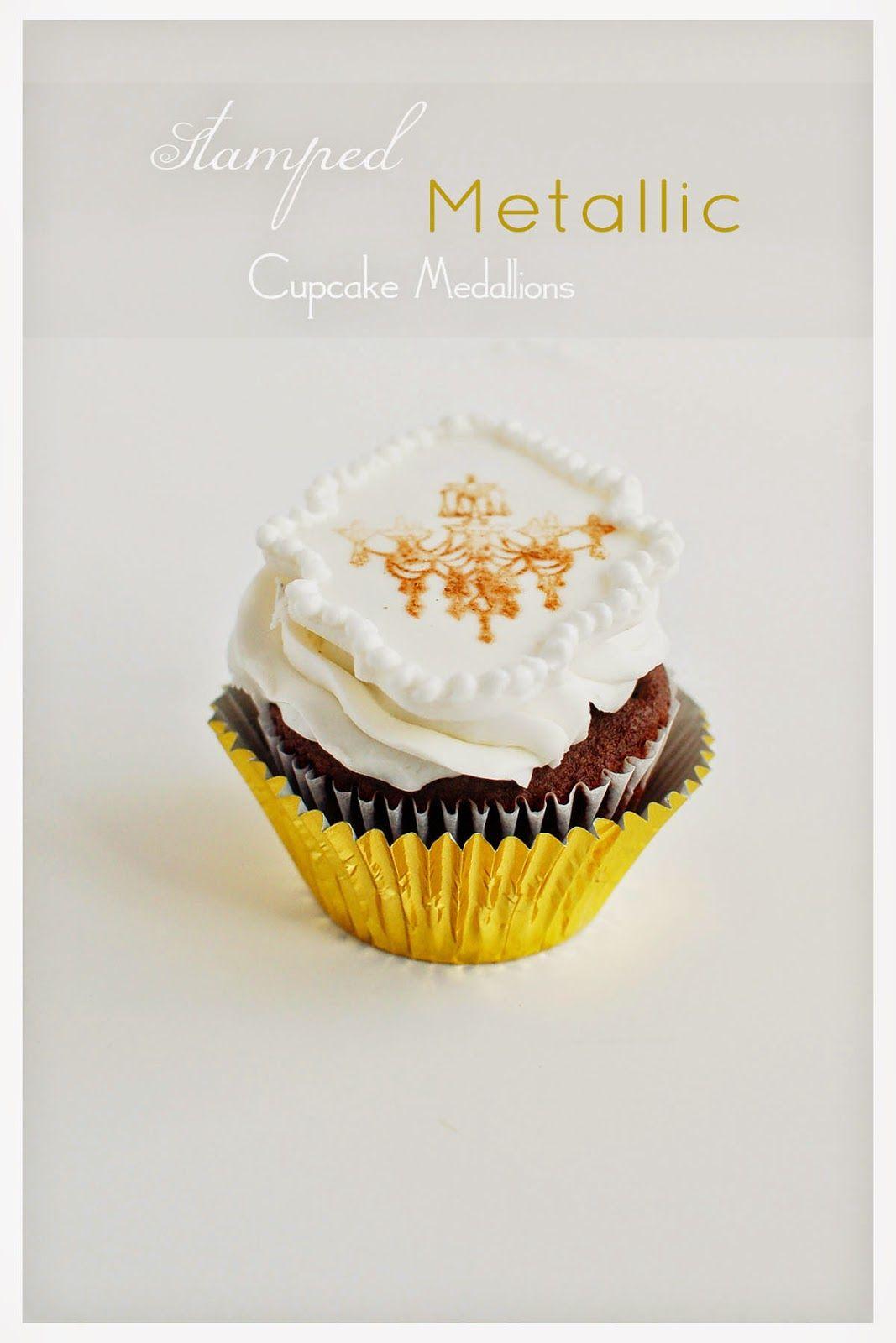 Stamped metallic cupcake medallions full tutorial on