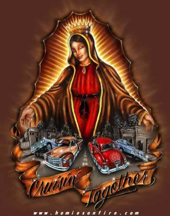 Cruisin 39 together hola chola chicano art hispanic art lowrider art - Brown pride lowrider ...