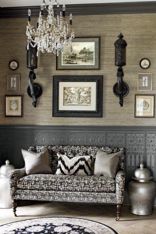 Coin salon dans un style contemporain, oriental moderne et chic ...