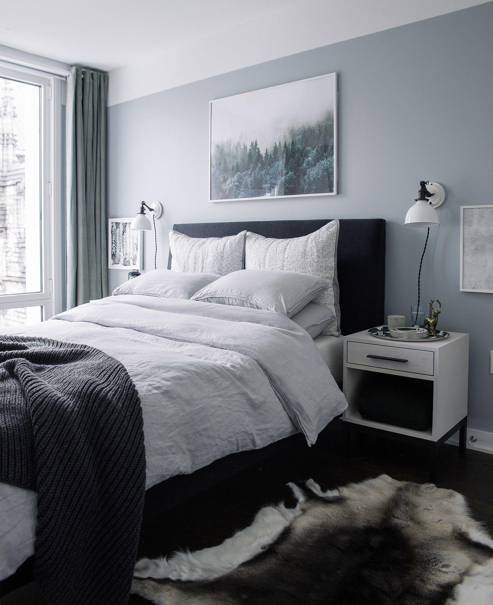 Tufting Kopfteil Grau Schlafzimmer Farbschema Ideen