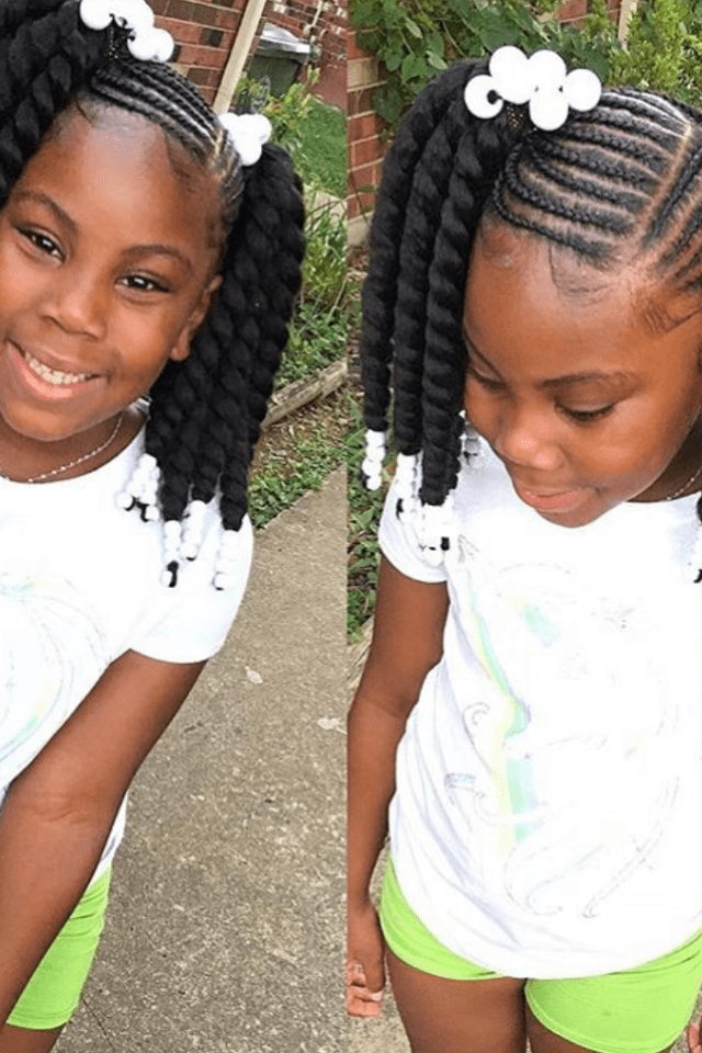 43 Braid Hairstyles For Little Girls With Natural Hair ...