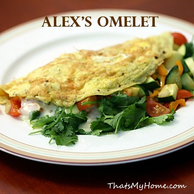 Alexs omelet egg omelet pepper jack cheese and coriander alexs omelet recipes food and cooking forumfinder Images