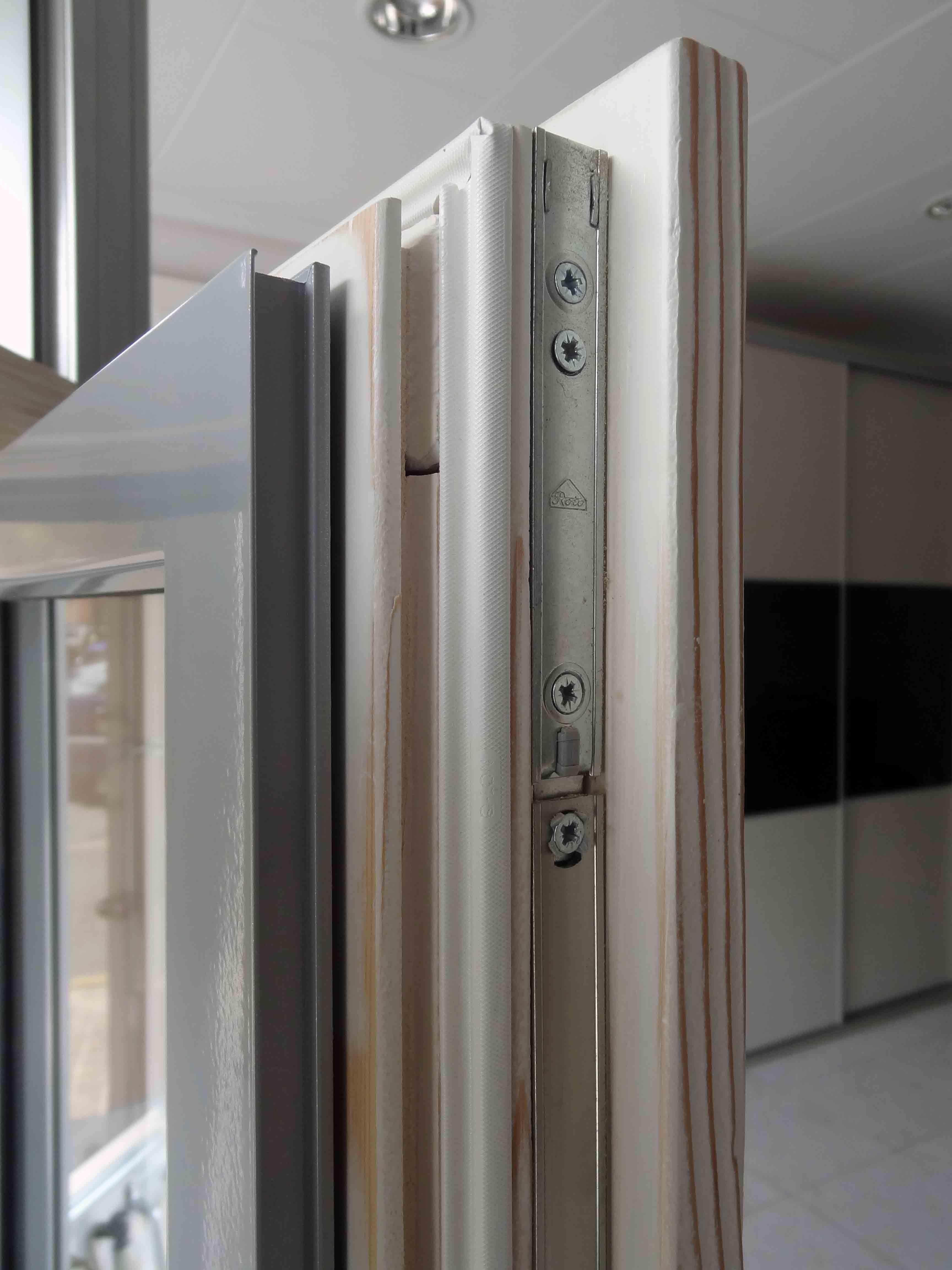 modelo perfil de ventana de madera aluminio ventanas