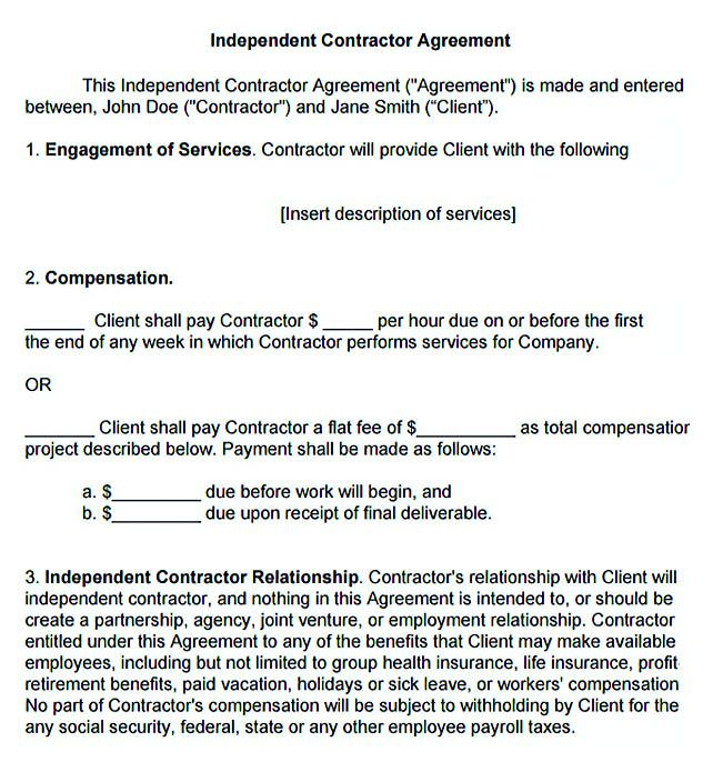 Subcontractor Contract Template Sample Subcontractor Agreement