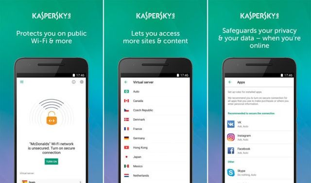 Kaspersky Free VPN - Unlimited VPN Software APP