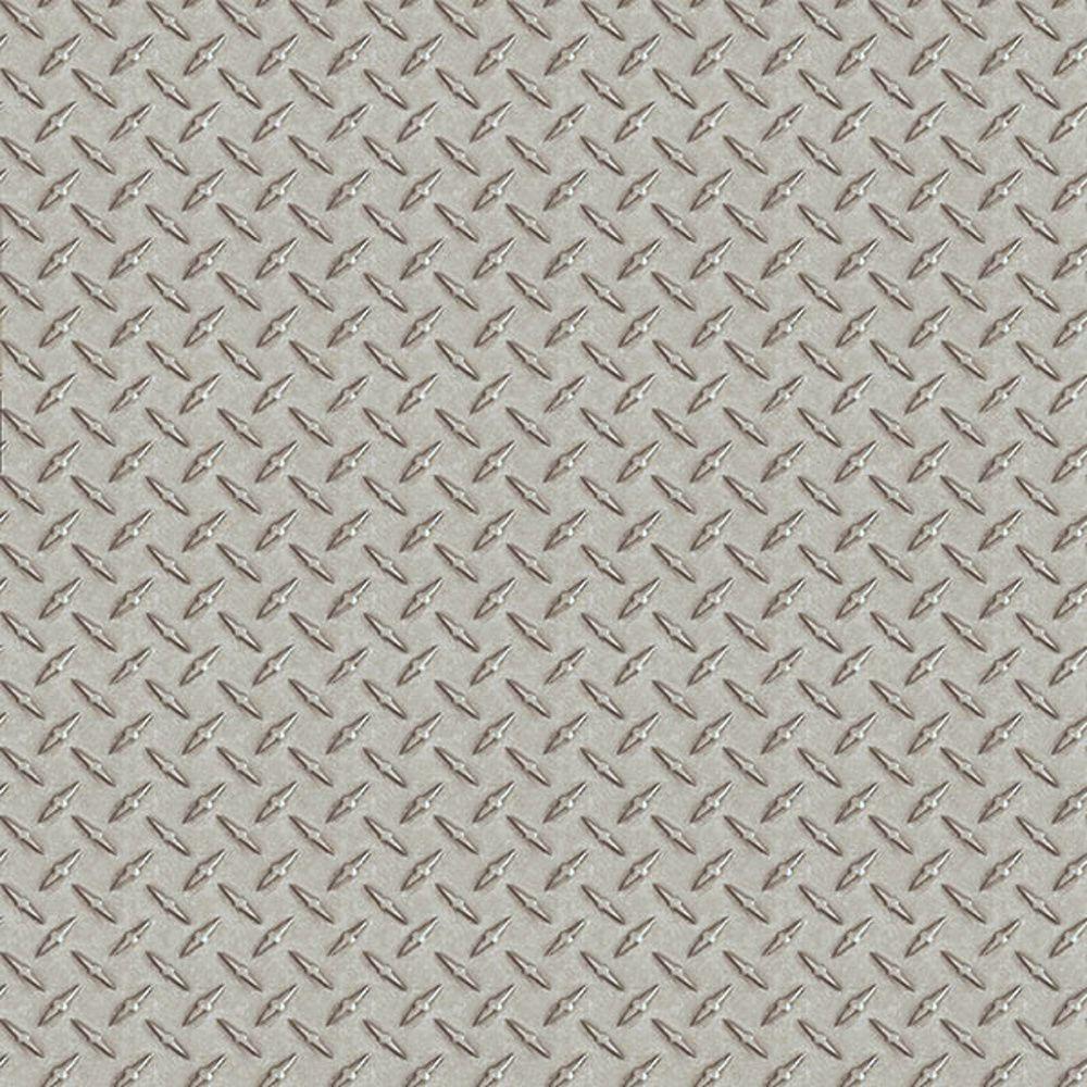 Silver Sheen Diamond Plate Metal Tread Untextured