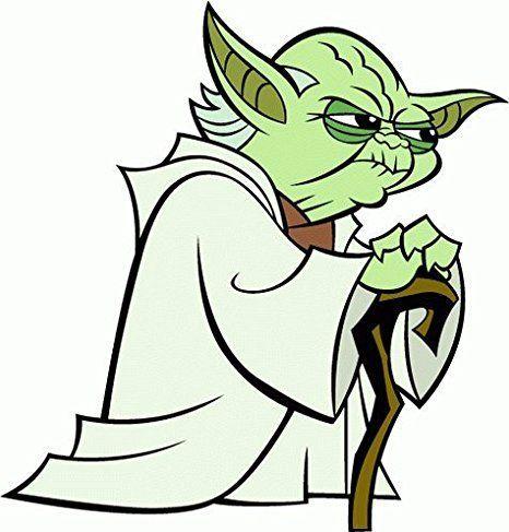 Yoda Star Wars Cartoon Hochwertigen AutoAutoaufkleber X Cm - Vinylboden qualitätsunterschiede